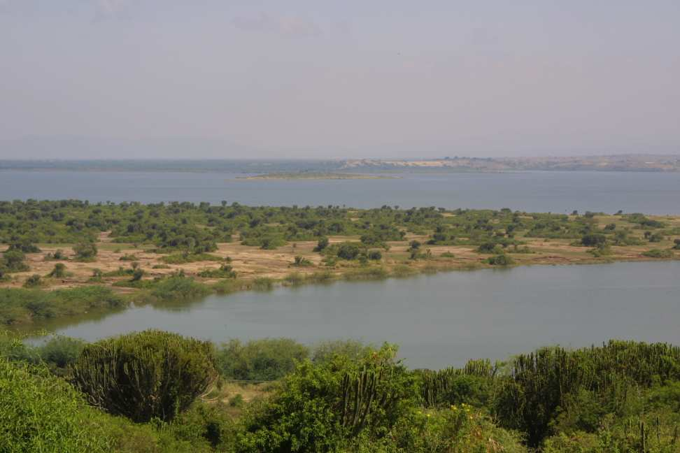 Kazinga channel from Mweya Lodge
