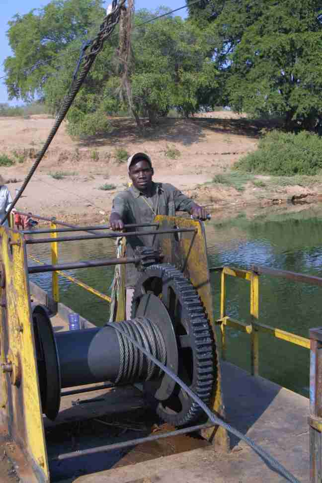 Winchman on Kafue Ferry